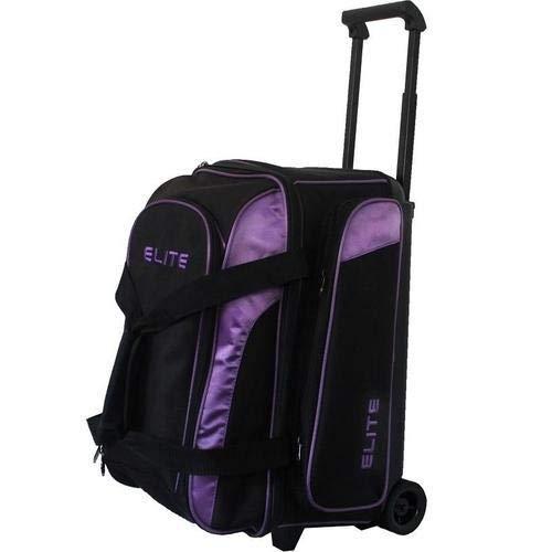 Elite Deuce 2 Ball Rolling Bowling Bag - Purple