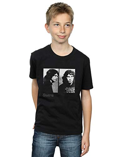 Doors camiseta negro Boy absoluto The Mugshot Jim Culto Morrison ES1qzFnwT