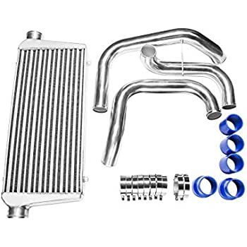 CXRacing Tube & Fin Front Mount Intercooler Piping Kit For Nissan S13 S14 S15 240SX Skyline