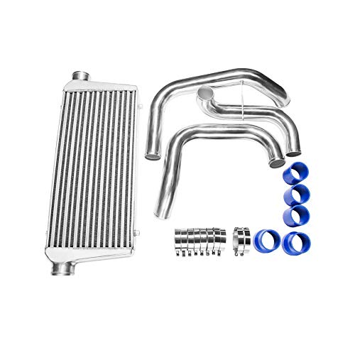 CXRacing Tube & Fin Front Mount Intercooler Piping Kit For Nissan S13 S14 S15 240SX Skyline R33 R34 GTR GTS With RB20DET RB25DET ()