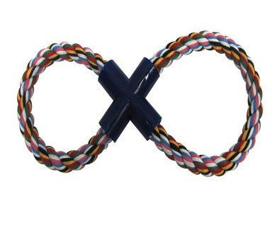 Boss Pet 03897 Digger's Multi-Colored Figure 8 Rope Tug Dog Toy (Toy Figure Rope 8)