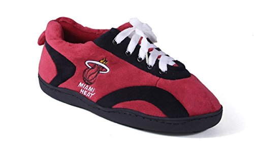 Happy Feet and Comfy Feet Mens and Womens OFFICIALLY LICENSED NBA All Around Slippers Miami Heat