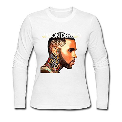 TTATT Women's Jason Derulo Fan Art Custom Long Sleeve Crewneck T-shirt