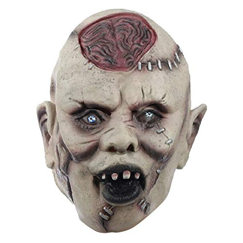 NUOBESTY Halloween Skeleton Mask Latex Mask Scary Mask Horror Mask Halloween Ghost Props Haunted House Props for $<!--$13.89-->