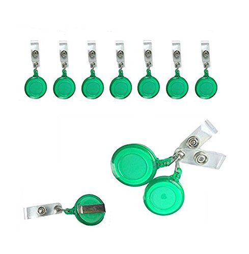 300Pcs Per Pack New ID Badge Holder Reel Retractable Key Clip Wholesale Price ()