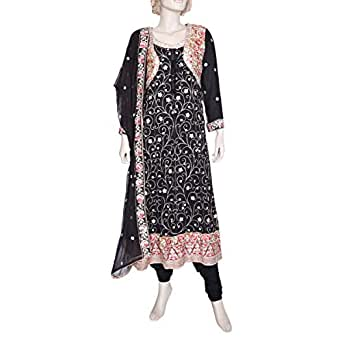 Shabnam Black Casual Kameez & Salwar Set For Women