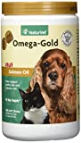 NaturVet Omega-Gold Plus Salmon Oil for Dogs, 180 CT Soft Chews, Made in USA
