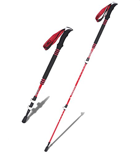 Lmzyan Outdoor Carbon Fiber 3 Straight Wanderstöcke   Walking Pole EVA Foam Griff Geschenkbox, Verstellbare Höhe 65-135cm
