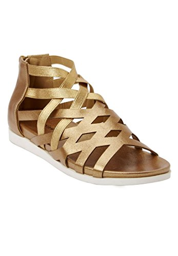 Bargain Catalog Outlet Comfortview Plus Size Teegan Sandals Bronze ZymgrVny