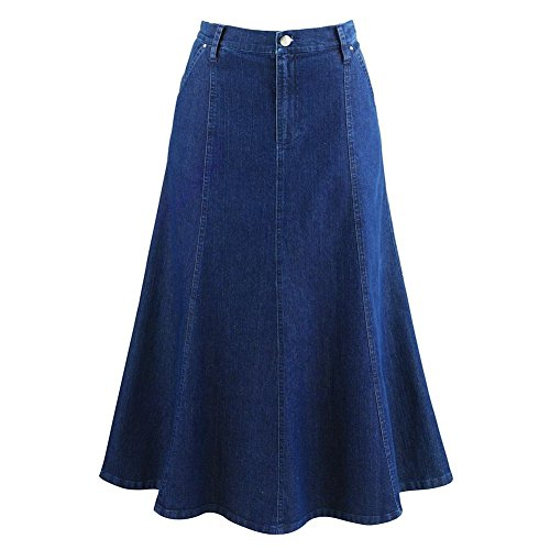 Women's 8-Gore Denim Riding Maxi Skirt - 31.5