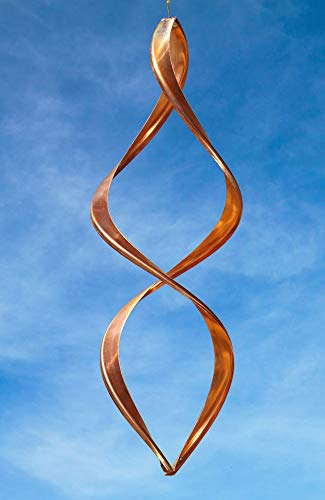 Handcrafted Gemini Copper Wind Sculpture by American Artist Neil Sater, 26 in