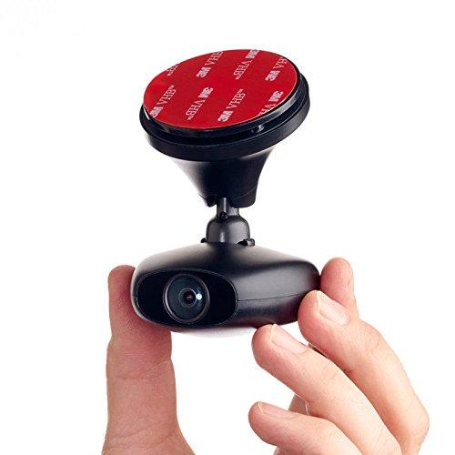 RoadEyes RecSMART Full HD Dashcam - Wi-Fi Live Stream - with GPS, 140 ̊ wide angle, 8GB Micro SD