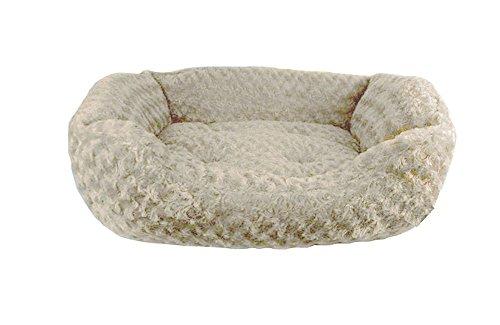 Cream Duke Faux Fur Pet Bed, Large, Cream