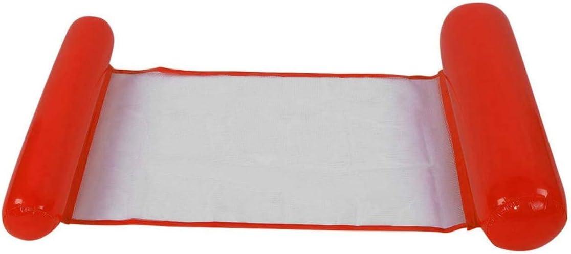 Ideal Swan Hamaca Flotante Inflable Piscina Colchón Hinchable 4 en 1 [ Hamaca + Silla de Descanso + Drifter + Sillín de Ejercicio ] para Piscina Playa Mar - Rojo
