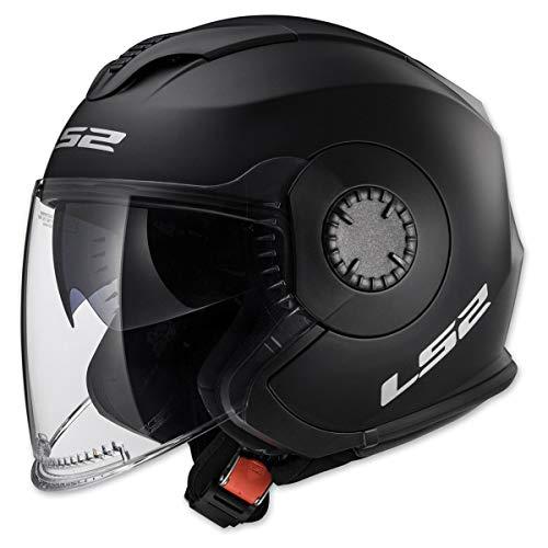 LS2 Helmets Unisex Adult Open Face Helmet Matte Black XXX-Large