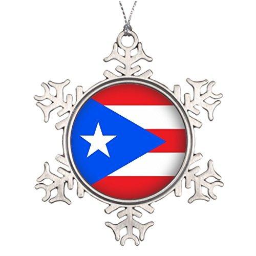 (OneMtoss Christmas Snowflake Ornament Xmas Trees Decorated Round Puerto Rico Personalised Christmas Tree)