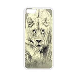 IPhone 6 Cases Lioness Hunting, Vety, [White]