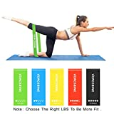 VORCSBINE Resistance Bands Exercise, Loop Workout Bands for Home Fitness, Pilates, Physical Therapy,Strength Training,Crossfit.(Set of 5)