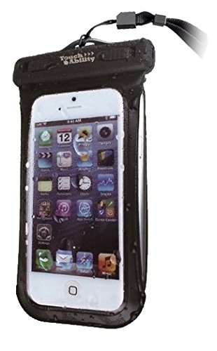 TouchAbility Universal Waterproof Case For Mobile Phones up to 5',...