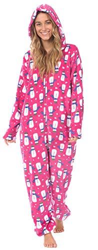 Body Candy Womens Plush Adult Animal Hood Onesie Pajama