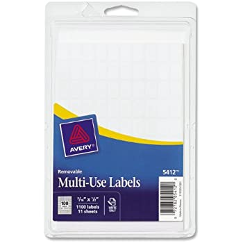 Amazon Avery Removable Rectangular Labels 031 X 05 Inches