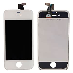 MicroMall(TM) LCD Touch Screen Display Bezel Frame Assembly Cell Replacement for Apple Iphone 4s White