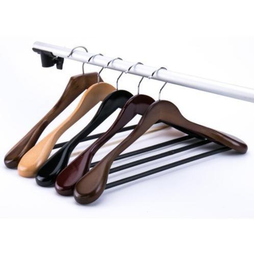 Price comparison product image AA 1PC Vintage Coat Clothes Garment Suit Shirt Trouser Non Slip Wooden Hanger