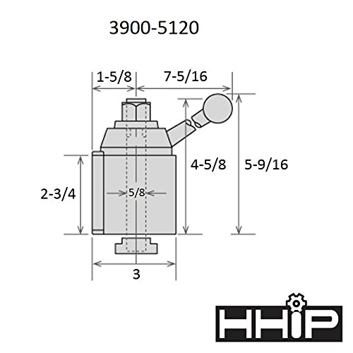 HHIP 3900-5120 BXA #200 Quick Change Tool Post Set Wedge Type by HHIP