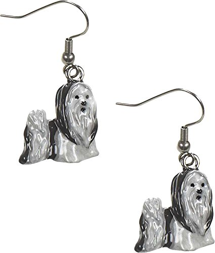 Shih Tzu Earrings - Dog Earrings Shih Tzu Earring