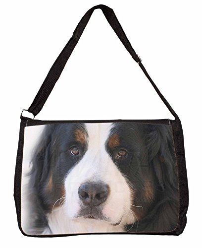 Bernese Mountain Dog Large 16 Black School Laptop Shoulder Bag sMBiO82J