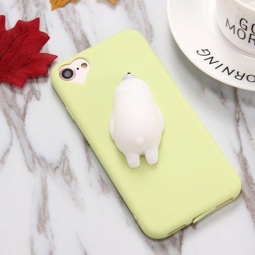 alsatek–Cover protettiva in plastica per iPhone 7Plus Verde Orsetto Mignon 3d squishy ALS32419