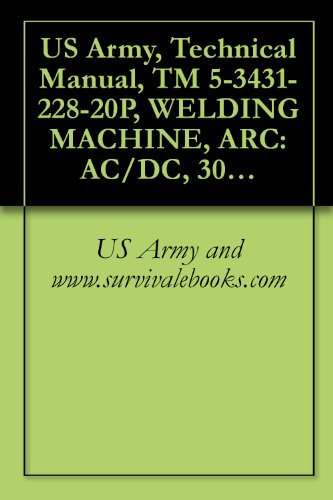 US Army, Technical Manual, TM 5-3431-228-20P, WELDING MACHINE, ARC: AC/DC, 300 AMP TRANSFORMER RECTIFIER, CONSTANT CURRENT, BASE MOUNTED, EUTECTIC CORP., MODEL MD301FED (FSN 3431-235-4728)