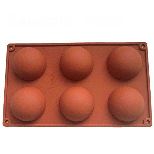 6 Cavity Half Sphere Circle Silicone Chocolate Cupcake Cake Mold Cake Baking Pan Decorative Cake Mould Tool