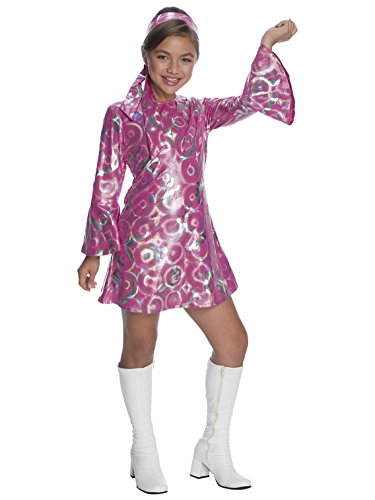 Charades Little Girl's Disco Princess Childrens Costume, Pink, Large -