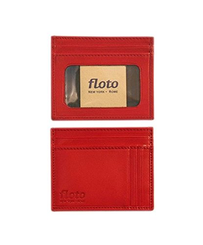 Firenze Leather Card Case Color: Tuscan Red