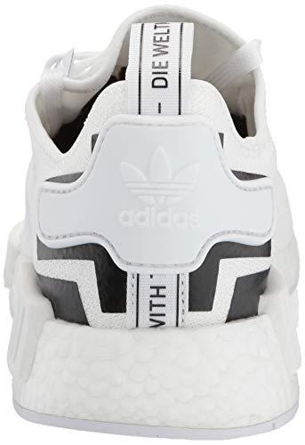 adidas Originals Men's NMD_R1 Running Shoe White/Black, 4 M US by adidas Originals (Image #2)