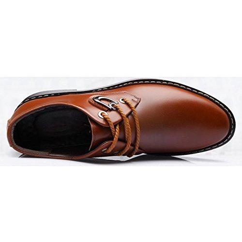 Negocios OEMPD Con De Transpirables Hombres Zapatos Cordones Para Zapatos Brown Ocasionales pwq1tpxrP