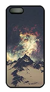 Rubber Back and DIY Case Cover For iPhone 5C Custom Soft TPU Single Shell Skin For iPhone 5C-Moutains under Starry Night Sky