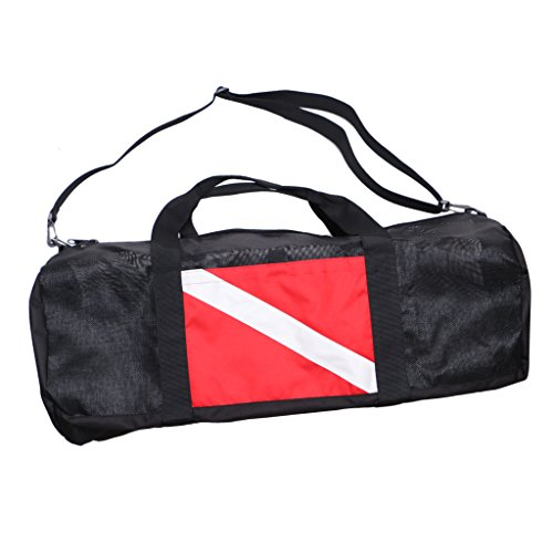 D DOLITY Large Dive Flag Mesh Gear Bag Backpack for Scuba Diving Swimming Accessories Equipment - Durable & Portable