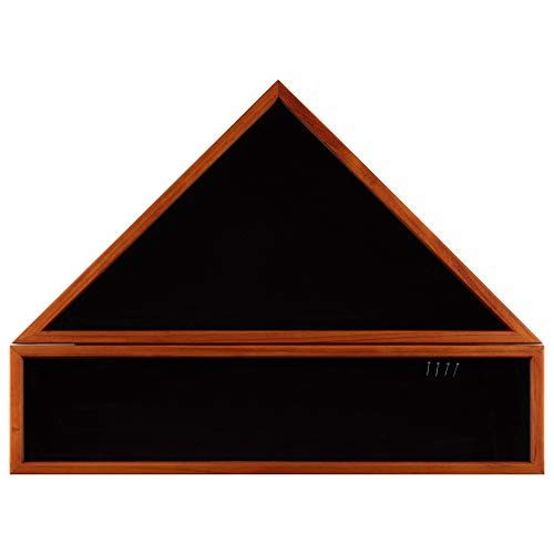 Everly Hart Collection 20x27 Solid Wood Military Award and Medal Flag Display Case, ()