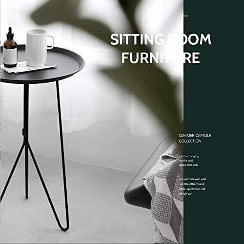 Jian Lin Table basse, Fer Table créative Accueil Salon Simple Petit café Table ronde Table en métal Table basse latérale table basse salon