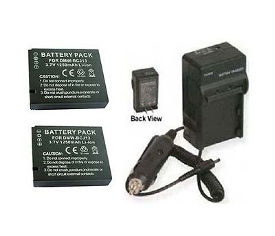 TWO Batteries BP-DC10-E BP-DC10-U + Charger for Leica D-LUX 5 E, Leica D-LUX5E, Leica DLUX5E by photo High Quality
