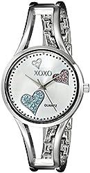 XOXO Women's XO1087 Silver Dial Silver-Tone Heart Watch