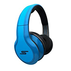STREET by 50 Cent Wired Over-Ear Headphones - Blue by SMS Audio (Discontinued by Manufacturer)
