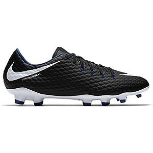 NIKE Men's Hypervenom Phelon III FG Soccer Cleat Black/White/Game Royal Size 10 M US