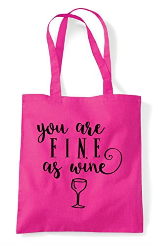 Shopper Bag Tote As You Fine Fuschia Are Wine wPqxXY1