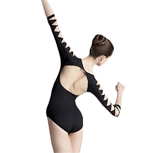 la danse justaucorps / de formation en danse corps creux manteau noir