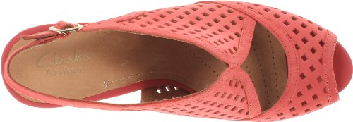 Clarks Womess Wessex Shay Pompe Rouge
