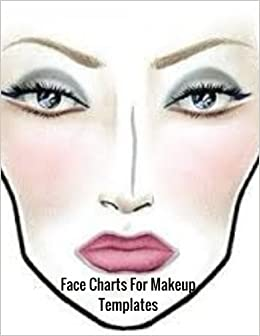 face charts for makeup templates female faces large notebook ayens