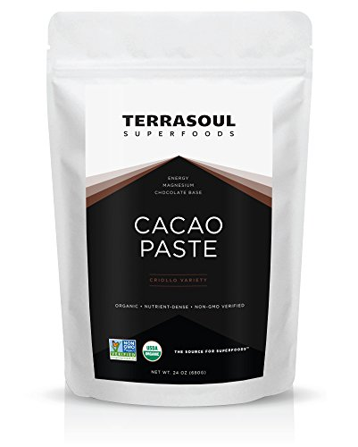 Price comparison product image Terrasoul Superfoods Raw Cacao Paste / Liquor (Organic),  1.5 Pounds